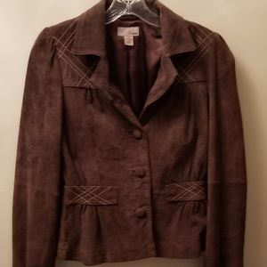 H&M brown suede leather thread detailed Size 6